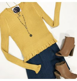 Tops 66 Fall For All Mustard Sweater