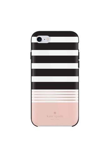 Kate Spade NY Hybrid Hardshell Case for iPhone 6 Plus/6S Plus (Stripe 2 Black/Cream/Gold Foil)