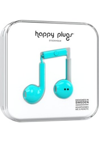 Happy Plugs Plus Earbuds (Turquoise)