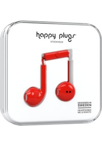 Happy Plugs Plus Earbuds (Red)