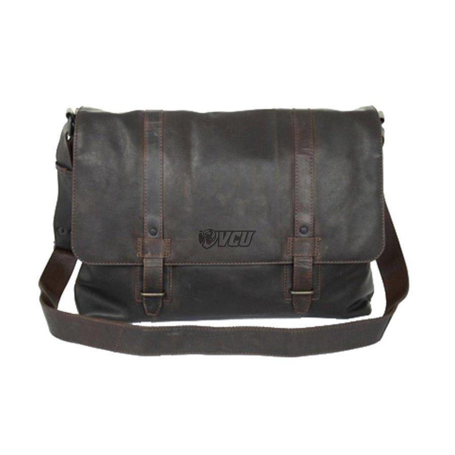 VCU Leather Messenger Bag (Cambridge Collection)