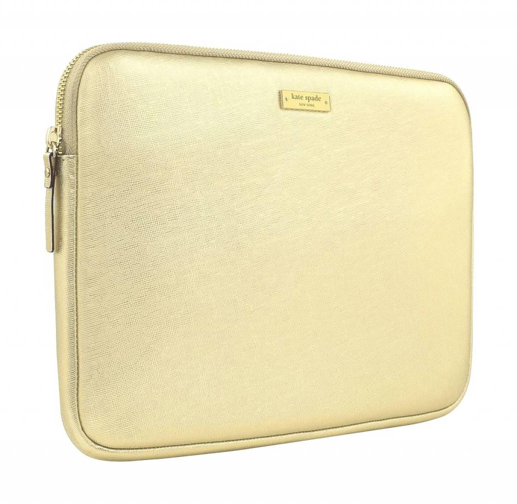 "quality design 9c795 3d57b Kate Spade Kate Spade NY Saffiano Laptop Sleeve for 13"" MacBook (Metallic  Gold)"