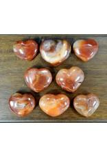 Carnelian Heart Shaped Stone