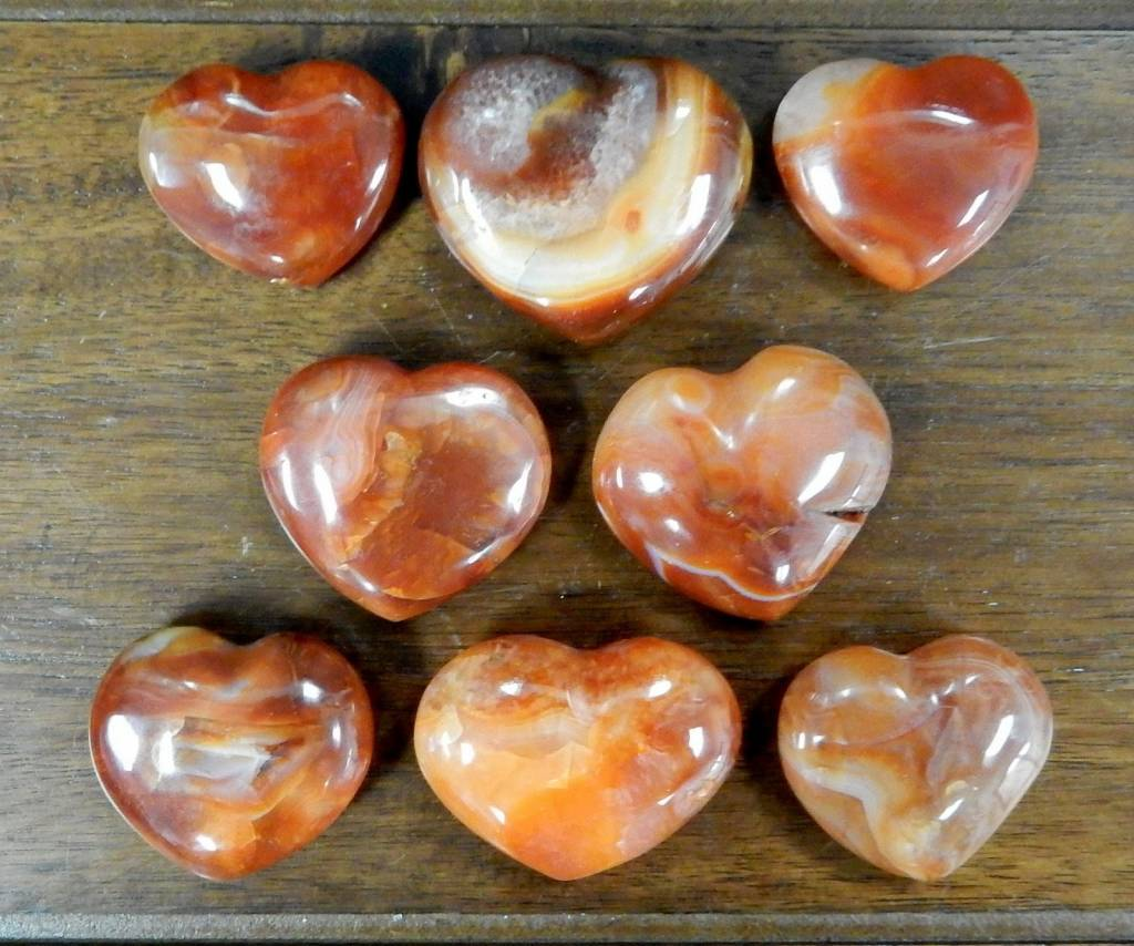 Carnelian Heart Shaped Stone