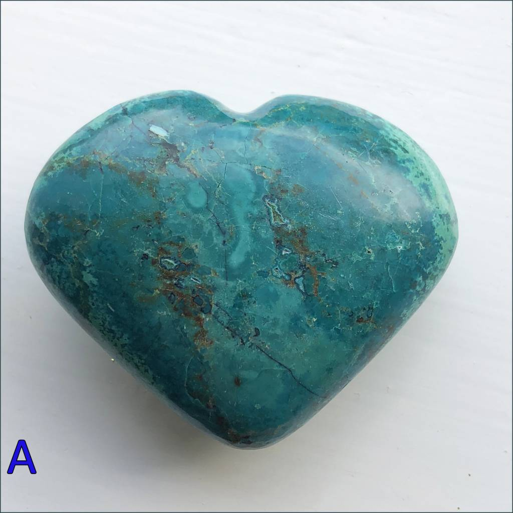 Polished Chrysocolla Hearts