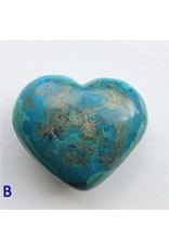 Polished Chrysocolla Hearts