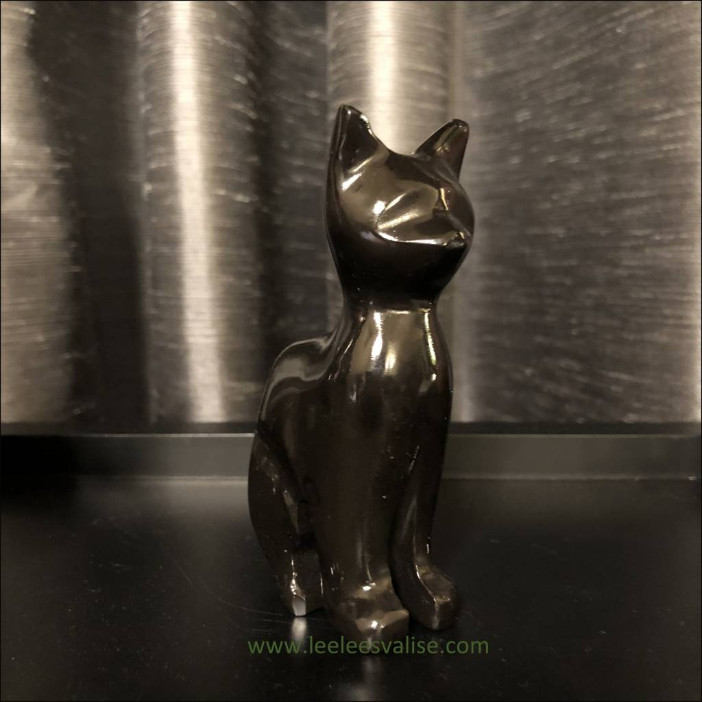 Polished Obsidian Cat