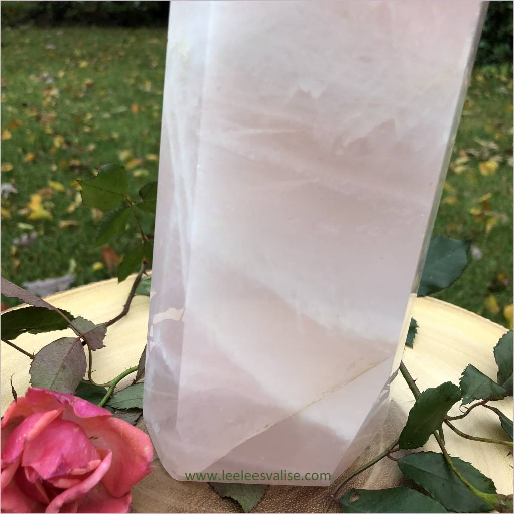 Rose Quartz Polished Tall Tower B