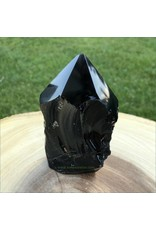 Semi Polished Obsidian Tower