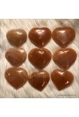 Polished Peach Selenite Heart
