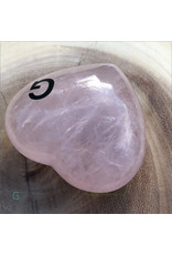Rose Quartz Polished Heart G