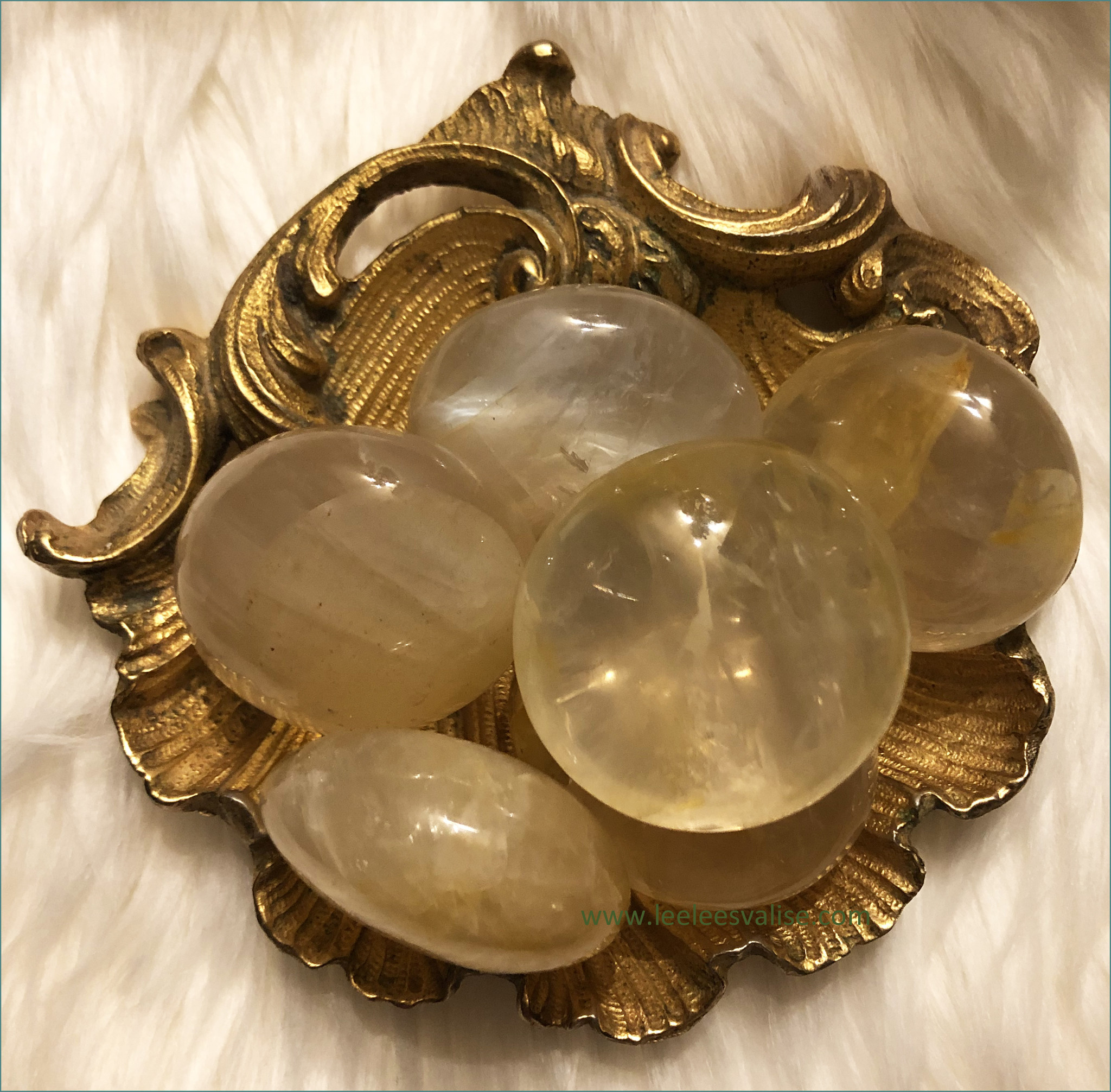 Golden Healer Palm Stone