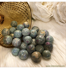 Ruby Fuchsite Spheres (Set of 3)