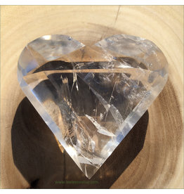 Clear Quartz Facet Cut Heart (E)