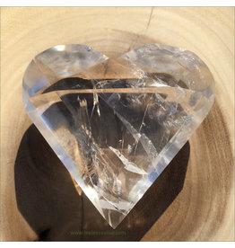 Clear Quartz Facet Cut Heart (E)