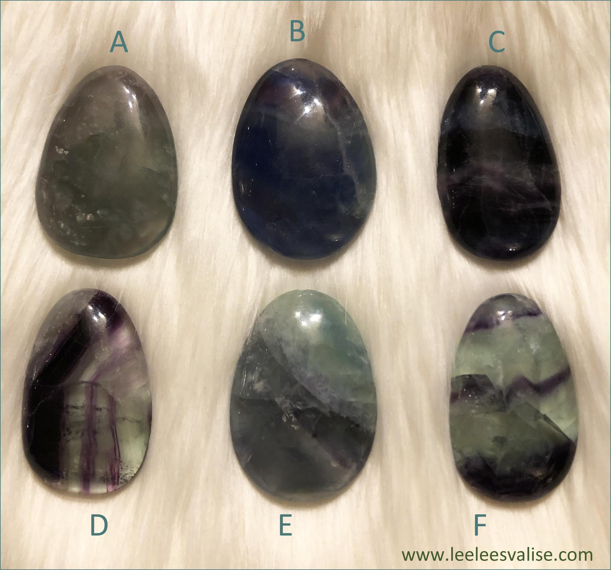 Rainbow Fluorite Worry Stones