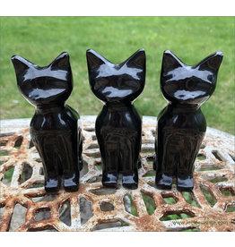 Polished Obsidian Cat