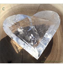 Clear Quartz Facet Cut Heart (C)