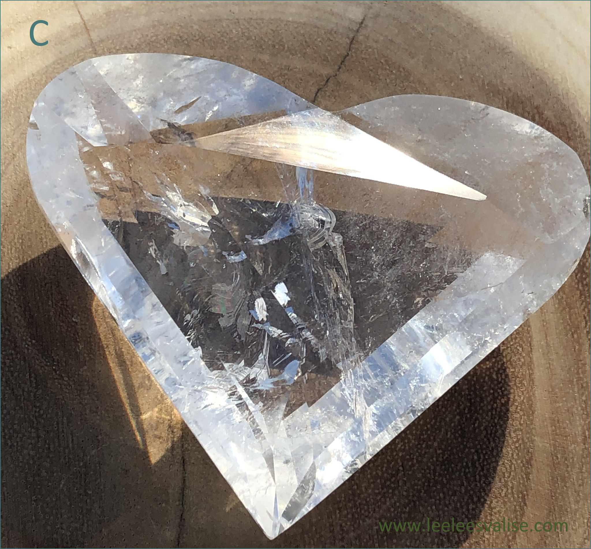 Clear Quartz Facet Cut Heart (C)