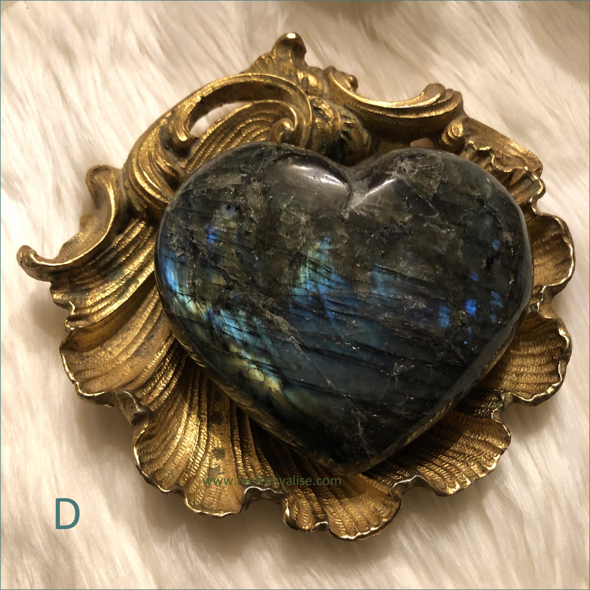 Labradorite Heart D