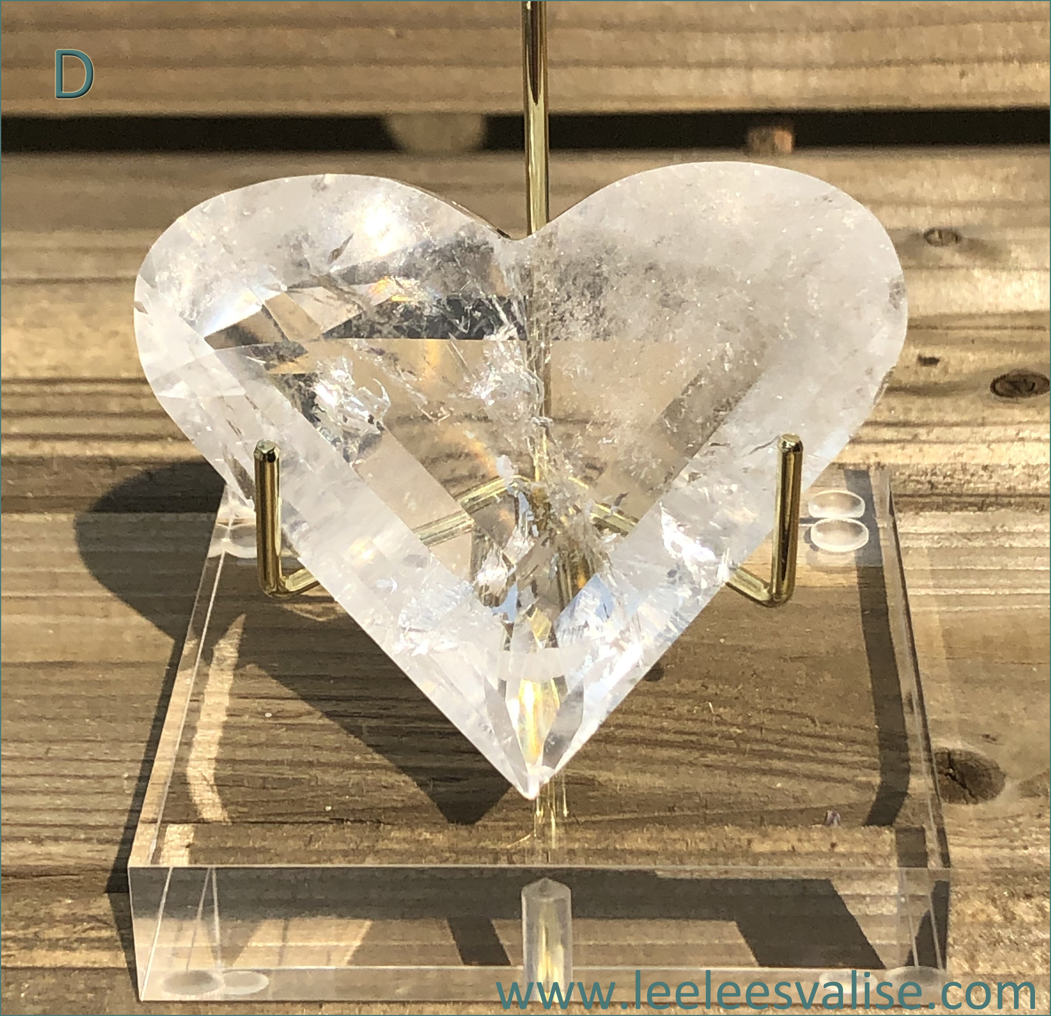 Clear Quartz Facet Cut Heart (D)
