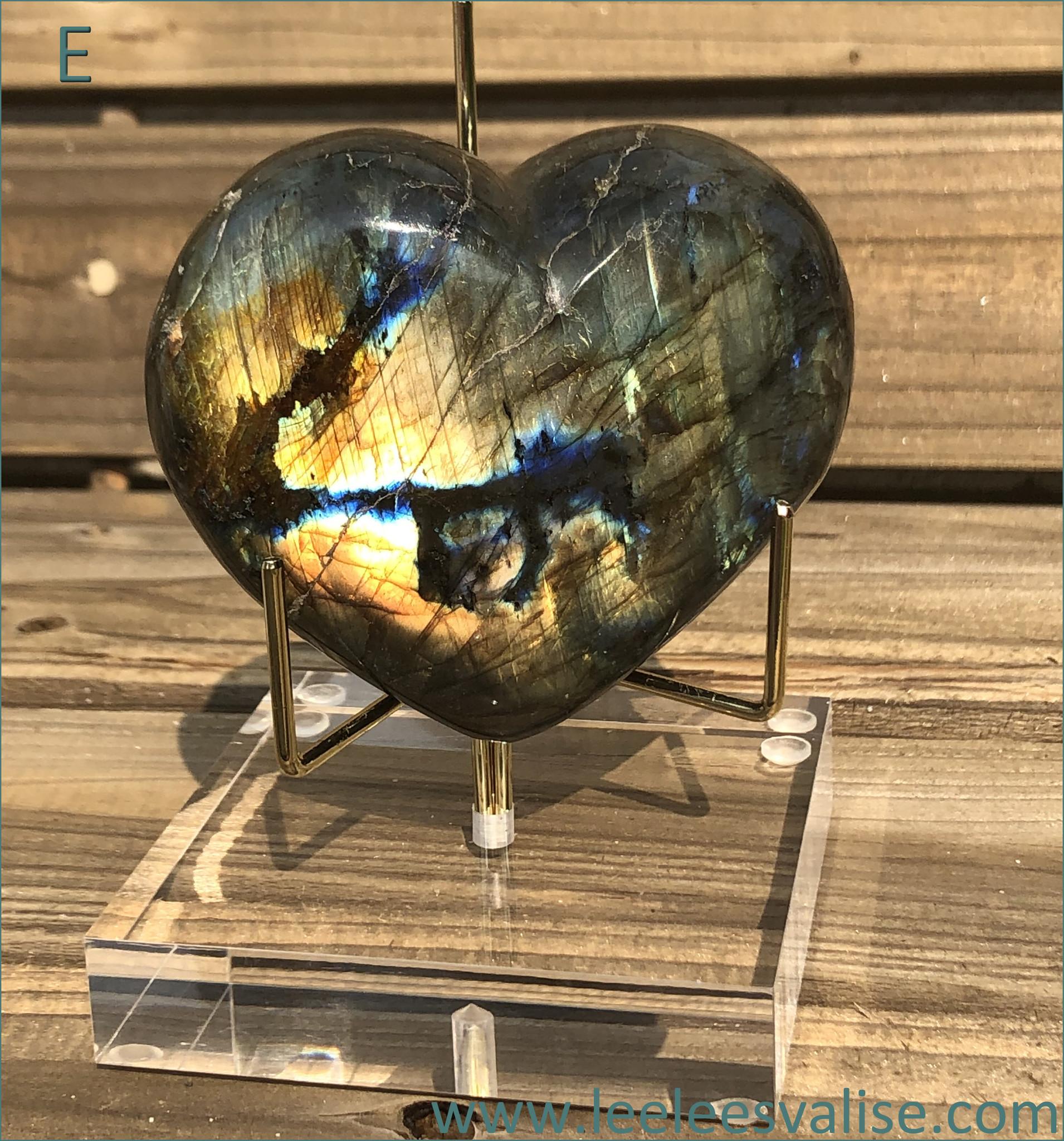 Labradorite Heart E