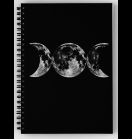 Triple Moon Goddess Symbol Spiral Notebook