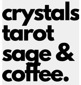 Crystals Tarot, Sage & Coffee Vinyl Sticker