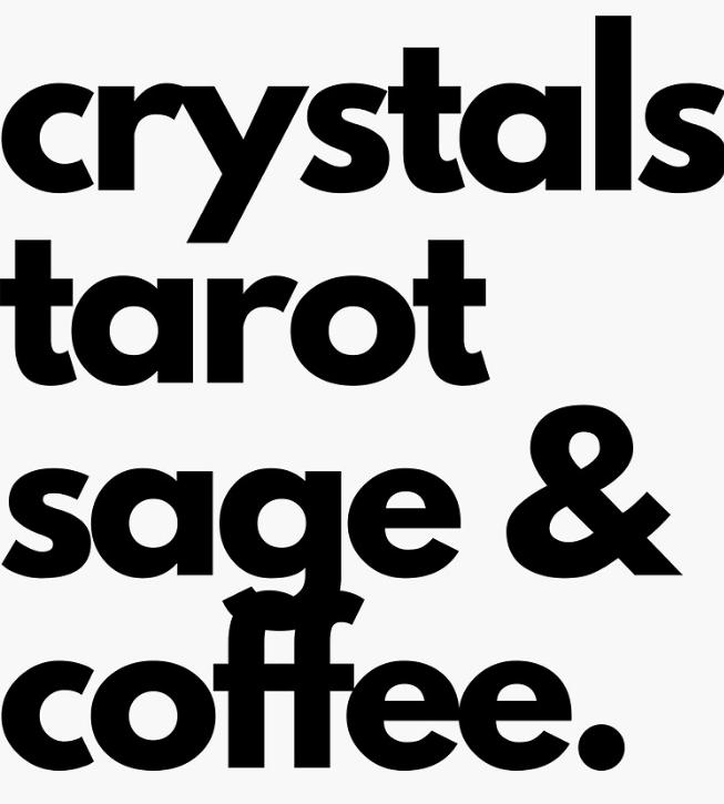 Crystals Tarot, Sage & Coffee Vinyl Sticker
