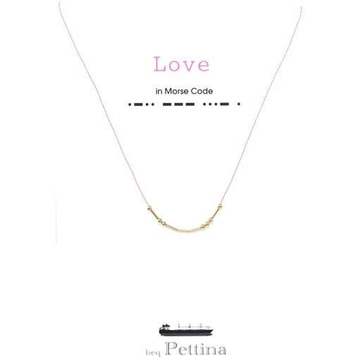 """Beq Pettina Morse Code Necklace """"Love"""""""