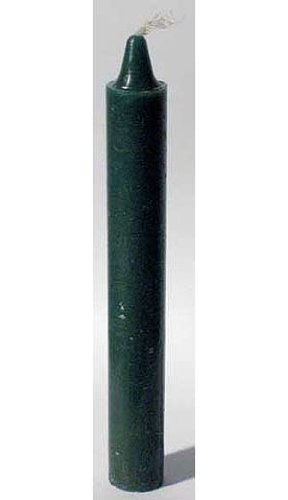 Green 6inch Taper Candle