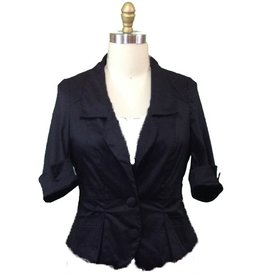 Lee Lee's Valise Angelina Jacket in Black Sateen