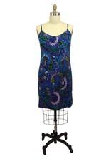 Lee Lee's Valise Sophia Dress in Blue Menagerie