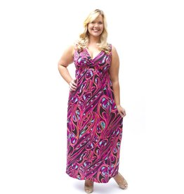Lee Lee's Valise Janet Maxi Dress in Pink Pallet