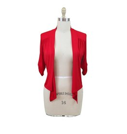 Lee Lee's Valise Cropped 3/4 Sleeve Franny in Lipstick Red