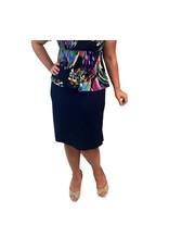 Lee Lee's Valise Paula Pencil Skirt in Evening Blue