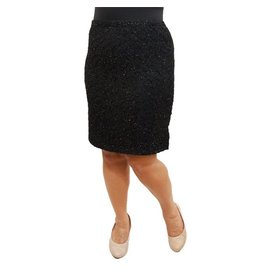 Lee Lee's Valise Paula Pencil Skirt in Black Glitter