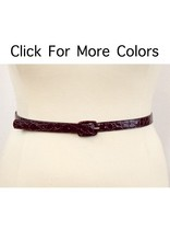 Lee Lee's Valise Skinny Croco Belt