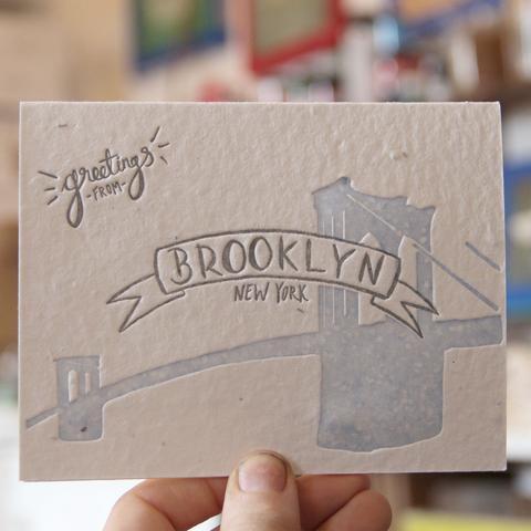 """Lovewild Design """"Brooklyn Greetings"""" Plantable Card"""