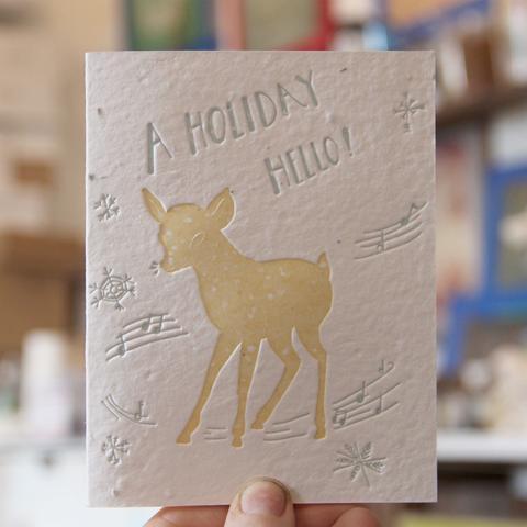 "Lovewild Design ""Holiday Hello"" Plantable Card"