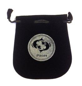 Pisces Sign Velvet Bag