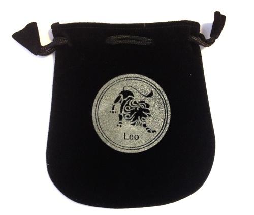 Leo Sign Velvet Bag