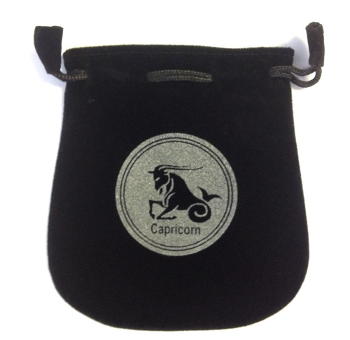 Capricorn Sign Velvet Bag