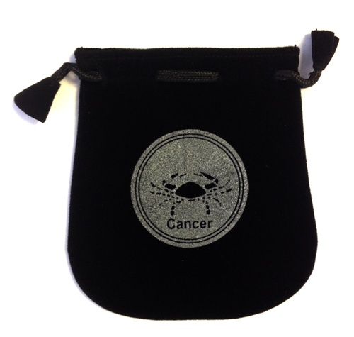 Cancer Sign Velvet Bag
