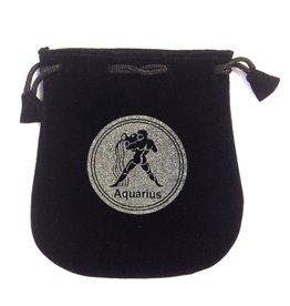 Aquarius Sign Velvet Bag