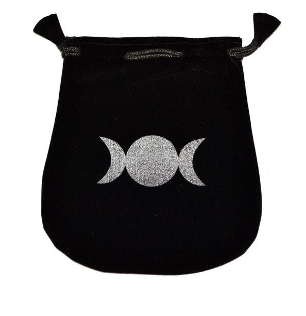 Triple Moon Velvet Bag