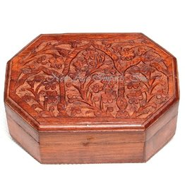 Handcrafted Carved Flower Box