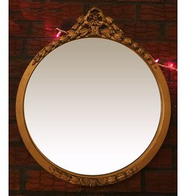 Lee Lee's Valise Antique Gold Round Bow Detail Mirror