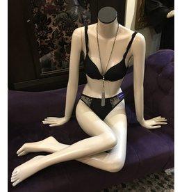 Lee Lee's Valise Sitting Stockman Mannequin in Dove Grey