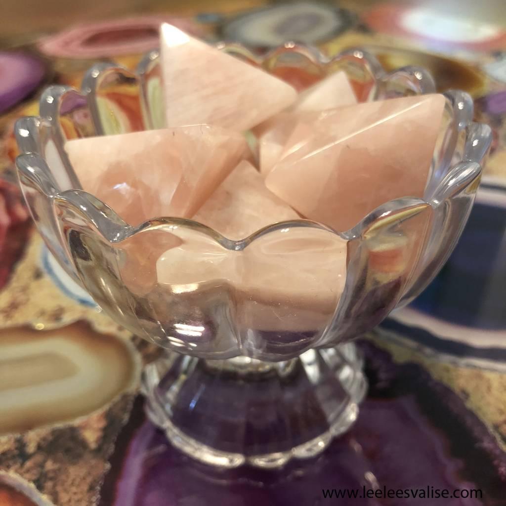 25-30MM Rose Quartz Pyramid